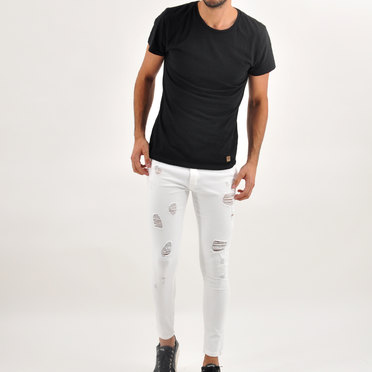 JEAN ARTIC FULL DESTROY WHITE