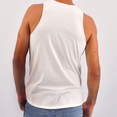 MUSCULOSA BACK TO WHITE