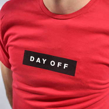 REMERA DAY OFF ROJO