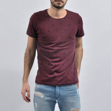 REMERA KOREA BORDO