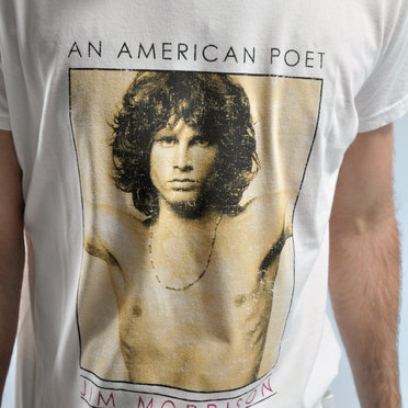 REMERA JIM MORRISON WHITE