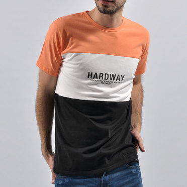 REMERA TRICOLOR CITY ORANGE