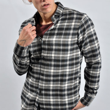 CAMISA DUNDEE GREY WHITE BLACK
