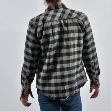 CAMISA PERTH BLACK GREY BIG