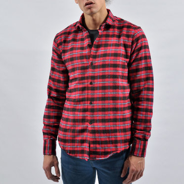 CAMISA EDIMBURGO RED BLACK