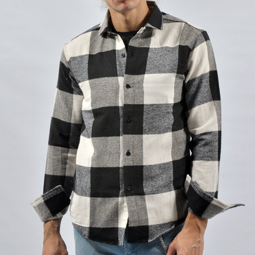 CAMISA ELGIN BLACK WHITE GREY