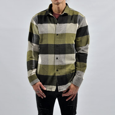 CAMISA ELGIN GREEN GREY