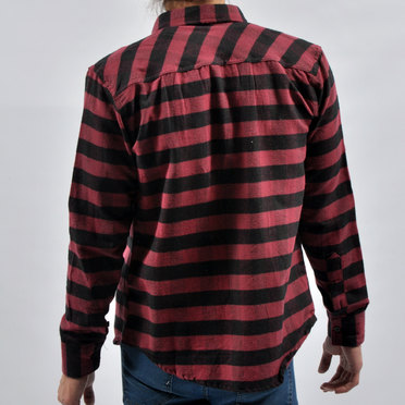 CAMISA PERTH BORDO BLACK BIG