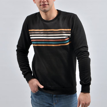 BUZO ROTERDAM STRIPES BLACK