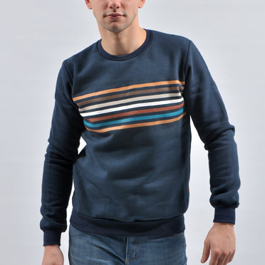 BUZO ROTERDAM STRIPES BLUE