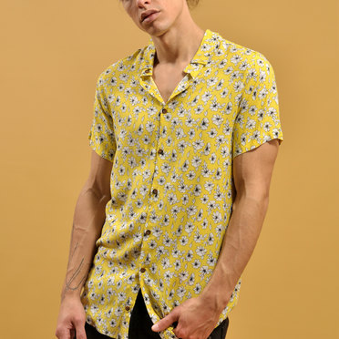 CAMISA M/C FLOWER YELLOW