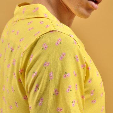 CAMISA M/C MINI FLOWERS YELLOW