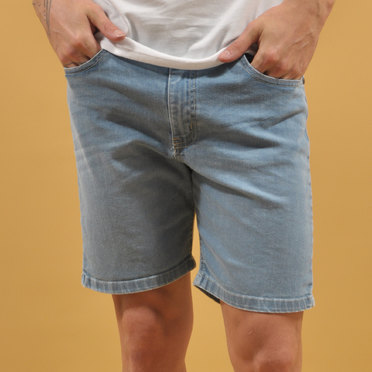 BERMUDA BUTAN DENIM LIGHT BLUE