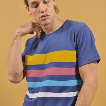 REMERA ATLANTA STRIPES BLUE
