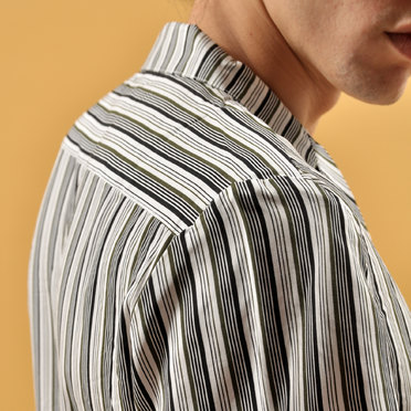 CAMISA M/C MINI STRIPES BLACK