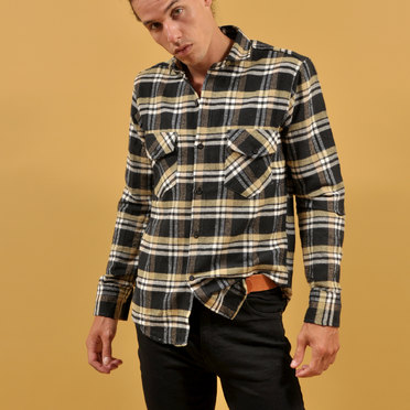 CAMISA BRAE CUADR YELLOW/BLACK